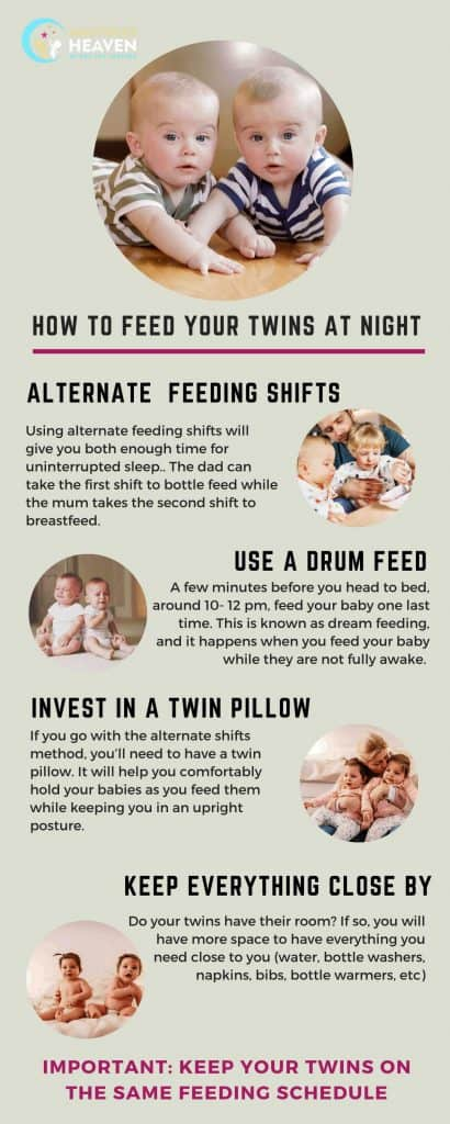 How to feed your twins at night